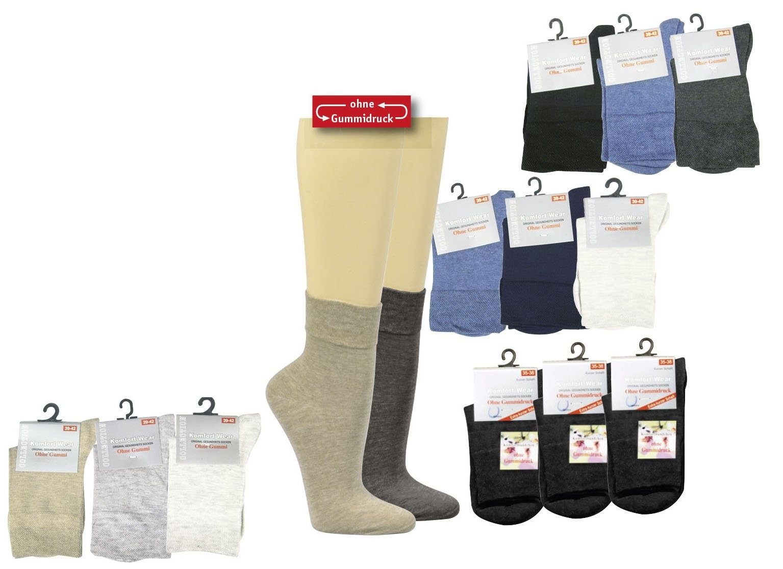 Gesundheitssocken kurz (3er Pack)