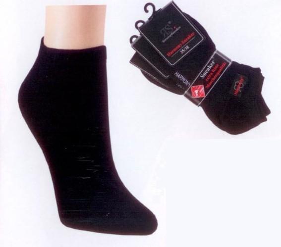 Damensneaker schwarz (3er Pack)